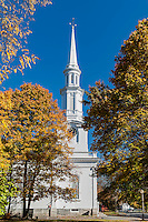 Unitarian Church across from Battle Green, Lexington, Massachusetts, USA