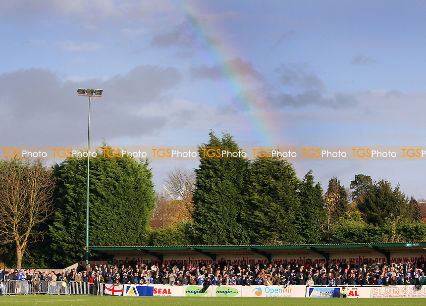 A rainbow appears over The Stadium - AFC Hornchurch vs Peterborough United - FA Challenge Cup 1st Round Proper -  09/11/08 - MANDATORY CREDIT: Gavin Ellis/TGSPHOTO - Self billing applies where appropriate - Tel: 0845 094 6026