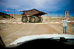 Pay dirt in a heavy dump truck heads to the mill at the Robinson Operations Copper open pit mine at Ruth, Nevada..