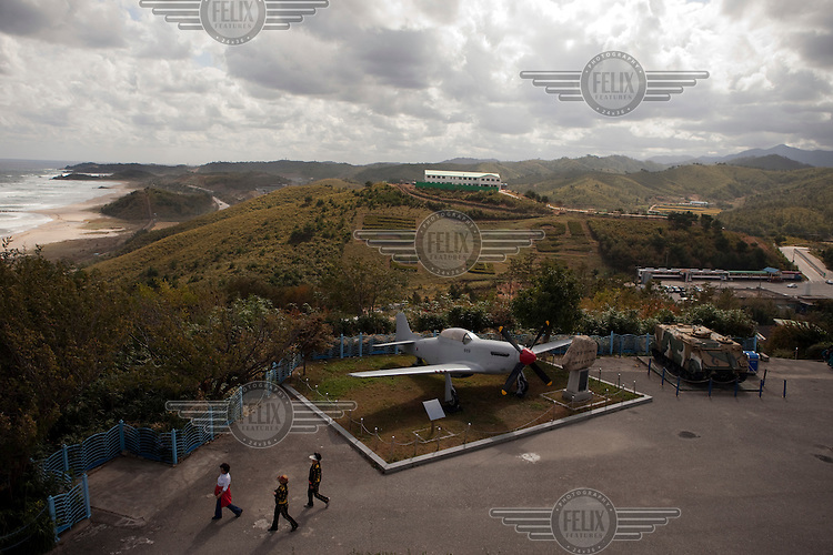 An exhibit at the Unification observatory complex, located at the northernmost part of South Korea. It was established in 1983 and was the first observatory to offer a view of North Korea.