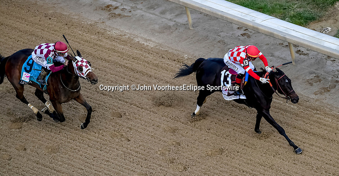 May 3, 2019 : Serengeti Empress, #13, ridden by Jose L Ortiz, wins the Longines Kentucky Oaks on Kentucky Oaks Day at Churchill Downs on May 3, 2019 in Louisville, Kentucky. John Voorhees/Eclipse Sportswire/CSM