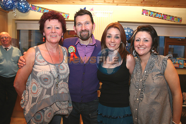 Tony McEnteggart celebrates his 50th in Oaklawns with his wife Sandra and daughters Edwina and Nicola....Photo NEWSFILE/Jenny Matthews.(Photo credit should read Jenny Matthews/NEWSFILE)....This Picture has been sent you under the condtions enclosed by:.Newsfile Ltd..The Studio,.Millmount Abbey,.Drogheda,.Co Meath..Ireland..Tel: +353(0)41-9871240.Fax: +353(0)41-9871260.GSM: +353(0)86-2500958.email: pictures@newsfile.ie.www.newsfile.ie.FTP: 193.120.102.198.