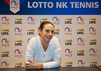 December 20, 2014, Rotterdam, Topsport Centrum, Lotto NK Tennis, Pressconference Bibianne Weijers<br /> Photo: Tennisimages/Henk Koster