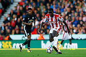 9th September 2017, bet365 Stadium, Stoke-on-Trent, England; EPL Premier League football, Stoke City versus Manchester United; Kurt Zouma of Stoke City controls the ball
