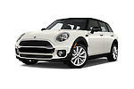 Stock pictures of low aggressive front three quarter view of 2018 MINI CLUBMAN Cooper 5 Door wagon Low Aggressive