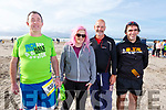 James Stack (Tralee), Molly Coffey (Scartaglin), Martin O'Sullivan (Tralee) and David Walsh (Tralee) ready for the Inch Half Marathon on Inch Beach on Sunday morning.