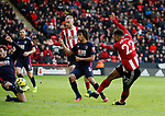 Lys Mousset of Sheffield Utd shoots during the Premier League match at Bramall Lane, Sheffield. Picture date: 9th February 2020. Picture credit should read: Simon Bellis/Sportimage