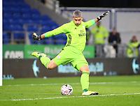 4th February 2020; Cardiff City Stadium, Cardiff, Glamorgan, Wales; English FA Cup Football, Cardiff City versus Reading; Neil Etheridge of Cardiff City takes the goal kick