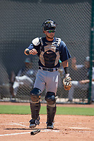 Seattle Mariners catcher Geoandry Montilla (41) during an Extended Spring Training game against the San Francisco Giants Orange at the San Francisco Giants Training Complex on May 28, 2018 in Scottsdale, Arizona. (Zachary Lucy/Four Seam Images)