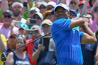 Tiger Woods (USA) watches his tee shot on 1 during round 1 of The Players Championship, TPC Sawgrass, at Ponte Vedra, Florida, USA. 5/10/2018.<br /> Picture: Golffile | Ken Murray<br /> <br /> <br /> All photo usage must carry mandatory copyright credit (&copy; Golffile | Ken Murray)