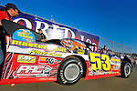 Sep 12, 2009; 6:19:29 PM; Rossburg, OH., USA; The 39th annual running of the World 100 Dirt Late Models racing for the Globe trophy at the Eldora Speedway.  Mandatory Credit: (thesportswire.net)