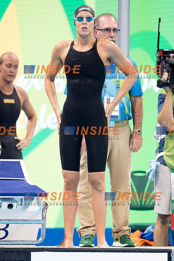 Federica Pellegrini Team Italy ITA<br /> 4x100 freestyle women relay<br /> Rio de Janeiro 06-08-2016 XXXI Olympic Games <br /> Olympic Aquatics Stadium <br /> Swimming heats 06/08/2016<br /> Photo Giorgio Scala/Deepbluemedia/Insidefoto