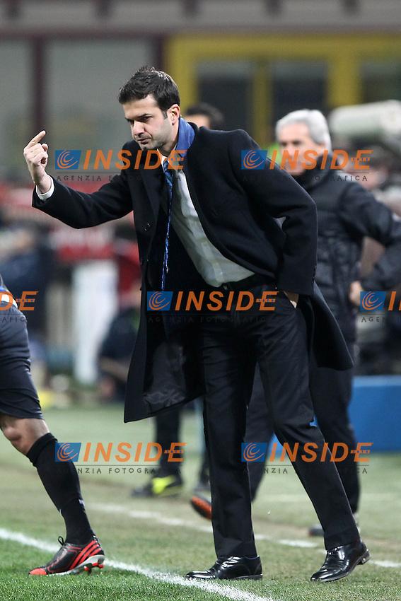 """Andrea Stramaccioni Inter.Milano 10/02/2013 Stadio """"San Siro"""".Football Calcio Serie A 2012/13.Inter v Chievo Verona.Foto Insidefoto Paolo Nucci."""