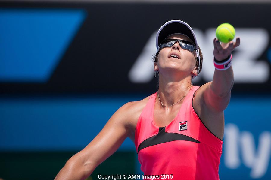Yaroslava Shvedova (KAZ)<br /> <br /> Tennis - Australian Open 2015 - Grand Slam -  Melbourne Park - Melbourne - Victoria - Australia  - 23 January 2015. <br /> &copy; AMN IMAGES