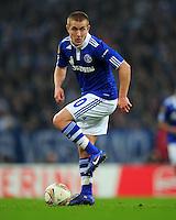 FUSSBALL   EUROPA LEAGUE   SAISON 2011/2012  ACHTELFINALE FC Schalke 04 - Twente Enschede                         15.03.2012 Lewis Holtby (FC Schalke 04)  Einzelaktion am Ball