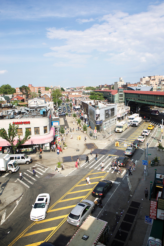 Queens, NY - July 10, 2017: A rooftop view of  Jackson Heights.<br /><br />Credit: Clay Williams for Edible Queens.