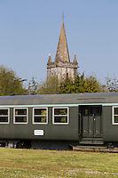 Europe/France/Normandie/Basse-Normandie/50/Manche/Barneville-Carteret : Le Train Touristique du Cotentin et la chapelle Saint-Louis  // Europe/France/Normandie/Basse-Normandie/50/Manche/Barneville-Carteret: The Cotentin Tourist Train