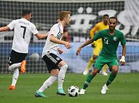 Marco Reus (Deutschland, Germany) gegen Abdullah Ateef(Saudi-Arabien) - 08.06.2018: Deutschland vs. Saudi-Arabien, Freundschaftsspiel, BayArena Leverkusen