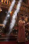 Israel, Jerusalem, Holy Saturday, Easter, Benediction of the Holy Fire ceremony at the Greek Catholic Church