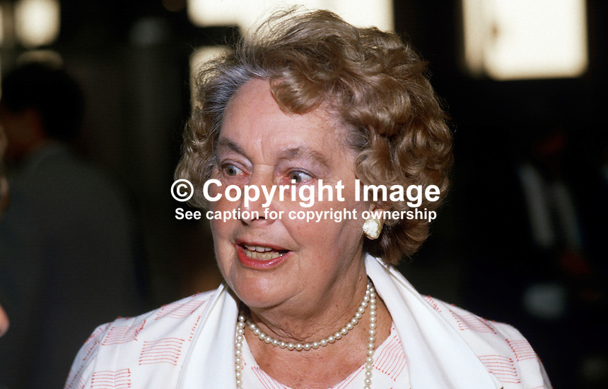 Edna Healey, wife of Denis Healey, MP, Labour Party, UK, 19870941EH1.<br />