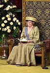 Nederland, Den Haag, 18-09-2007 Koningin Beatrix  in de Ridderzaal tijdens het uitspreken van  Troonrede  waarin het kabinet Balkenende IV de plannen voor het komende regeringsjaar bekend maakt. FOTO: Gerard Til/Hollandse Hoogte