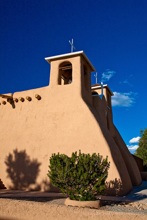 The adobe San Francisco de Asis church in Rancho de Taos dates from 1730. The church, with soft looking four foot thick adobe walls, has an otherworldly presence and was a favorite subject of Georgia O'Keeffe.
