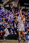 18 December 2018: St. Bonaventure University Bonnies Guard Kyle Lofton, a Freshman from Hillside, NJ, in overtime action against the University of Vermont Catamounts at Patrick Gymnasium in Burlington, Vermont. The Catamounts defeated the Bonnies 83-76 in a double-overtime NCAA DI game. Mandatory Credit: Ed Wolfstein Photo *** RAW (NEF) Image File Available ***