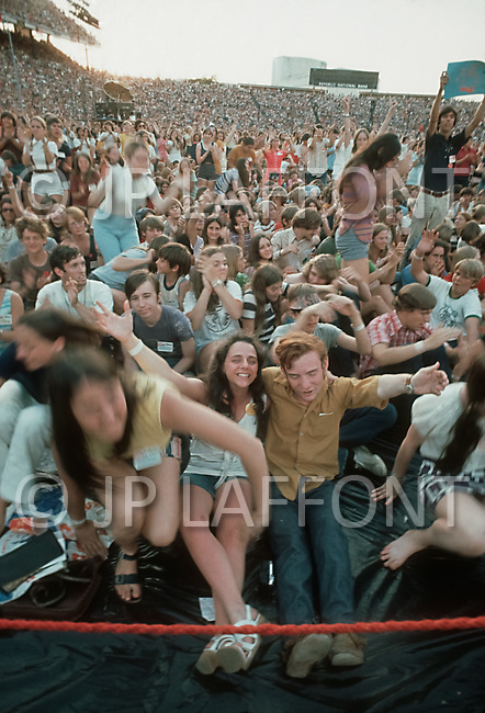 """Dallas, Texas, USA, June, 1972, Explo 72. The """"Campus Crusade for Christ"""" gathered 80,000 faithful during 5 days to listen to evangelist including Billy Graham, singers such as Johnny cash, groups like Love Song and for the first time ever, rock groups."""