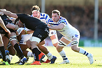 Sam Underhill of Bath Rugby in action at a scrum. Gallagher Premiership match, between Exeter Chiefs and Bath Rugby on March 24, 2019 at Sandy Park in Exeter, England. Photo by: Patrick Khachfe / Onside Images