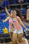 The Texas Arlington Mavericks dance team in action during the game between the Idaho Vandals and the Texas Arlington Mavericks at the College Park Center arena in Arlington, Texas. Arlington defeats Idaho 60 to 58....