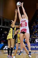 Thunderbirds' Kristina Brice in action during the ANZ Championship - Central Pulse v Adelaide Thunderbirds at Te Rauparaha Arena, Porirua, New Zealand on Sunday 12 June 2016. <br /> Photo by Masanori Udagawa. <br /> www.photowellington.photoshelter.com.