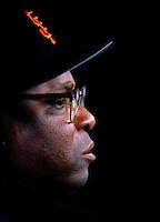 SAN FRANCISCO, CA - Manager Dusty Baker of the San Francisco Giants watches from the dugout during a game against the New York Mets at Candlestick Park in San Francisco, California in 1994. Photo by Brad Mangin