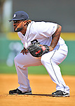 9 March 2012: Detroit Tigers first baseman Prince Fielder in action during a Spring Training game against the Philadelphia Phillies at Joker Marchant Stadium in Lakeland, Florida. The Phillies defeated the Tigers 7-5 in Grapefruit League action. Mandatory Credit: Ed Wolfstein Photo