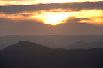 Sunset Landscape, Mediterranean Habitat for Iberian Lynx, Sierra de Andujar Natural Park, Sierra Morena, Andalucia, Spain