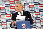 Atletico de Madrid's President Enrique Cerezo. July 9, 2015. (ALTERPHOTOS/Acero)