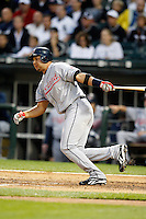 August 7, 2009: Third Baseman Jhonny Peralta (2) of the Cleveland Indians at bat during a game vs. the Chicago White Sox at U.S. Cellular Field in Chicago, IL.  The Indians defeated the White Sox 6-2.  Photo By Mike Janes/Four Seam Images