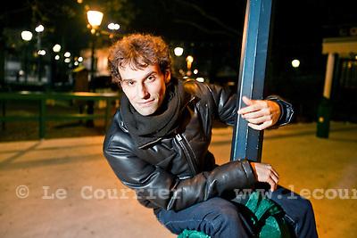 Genève, le 23.11.2010.David Greilsammer directeur de l'orchestre de chambre de Genève; OCG..© Jean-Patrick / Le Courrier