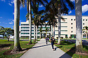 FIU Building Portrait with Students