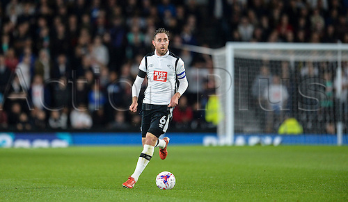 20.09.2016. iPro Stadium, Derby, England. Football League Cup Football. Derby versus Liverpool. Richard Keogh of Derby County on the ball.