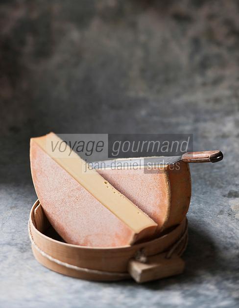 Europe/France/Rhône-Alpes/74/Haute Savoie/Fromage AOC Abondance  - Stylisme : Valérie LHOMME