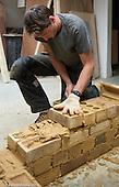 Training course for bricklayers, Able Skills, Dartford, Kent.