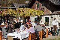 Austria, Styrian Salzkammergut, Goessl at Grundl Lake: inn, restaurant | Oesterreich, Steyrisches Salzkammergut, Goessl am Grundlsee: Gasthof, Restaurant am See
