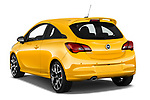 Car pictures of rear three quarter view of 2019 Opel Corsa GSI 3 Door Hatchback Angular Rear
