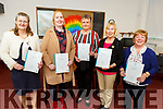 Graduating in Food Preparation and International Cuisine from An Tochar Education centre in Causeway on Monday. L to r: Mary Griffin, Margaret Wren, Brenda Stack, Assumpta Dore and Eileen Carroll.