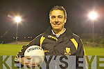 Crokes trainer Harry O'Neill talks to his players at training on Thursday night.
