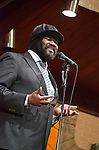 Jazz singer Gregory Porter brought his distinct vocal style to the Jazz Vespers at the Bethany Baptist Church in Newark, NJ.