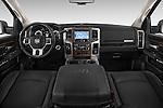 Stock photo of straight dashboard view of a 2015 Ram 2500 Laramie Mega Cab 4 Door Truck Dashboard