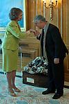 Queen Sofia of Greece receives in audience monsignor Enrique Figaredo Alvargonzalez..(Alterphotos/Ricky)