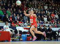 08.02.2017 Wales Suzy Drane in action during the Wales v Silver Ferns netball test match at Swansea University at Ice Arena Wales. Mandatory Photo Credit ©Ian Cook/Michael Bradley Photography.