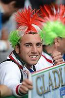 FUSSBALL  EUROPAMEISTERSCHAFT 2012   VORRUNDE Italien - Kroatien                    14.06.2012 Italienischer Fussballfan